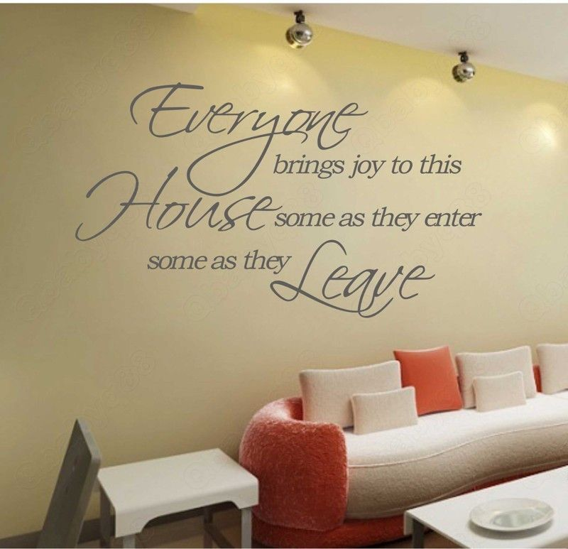 Bring Joy Small Wall Quote Decal Removable Stickers Decor Vinyl Art Living Room Wall Decor Living Room Modern