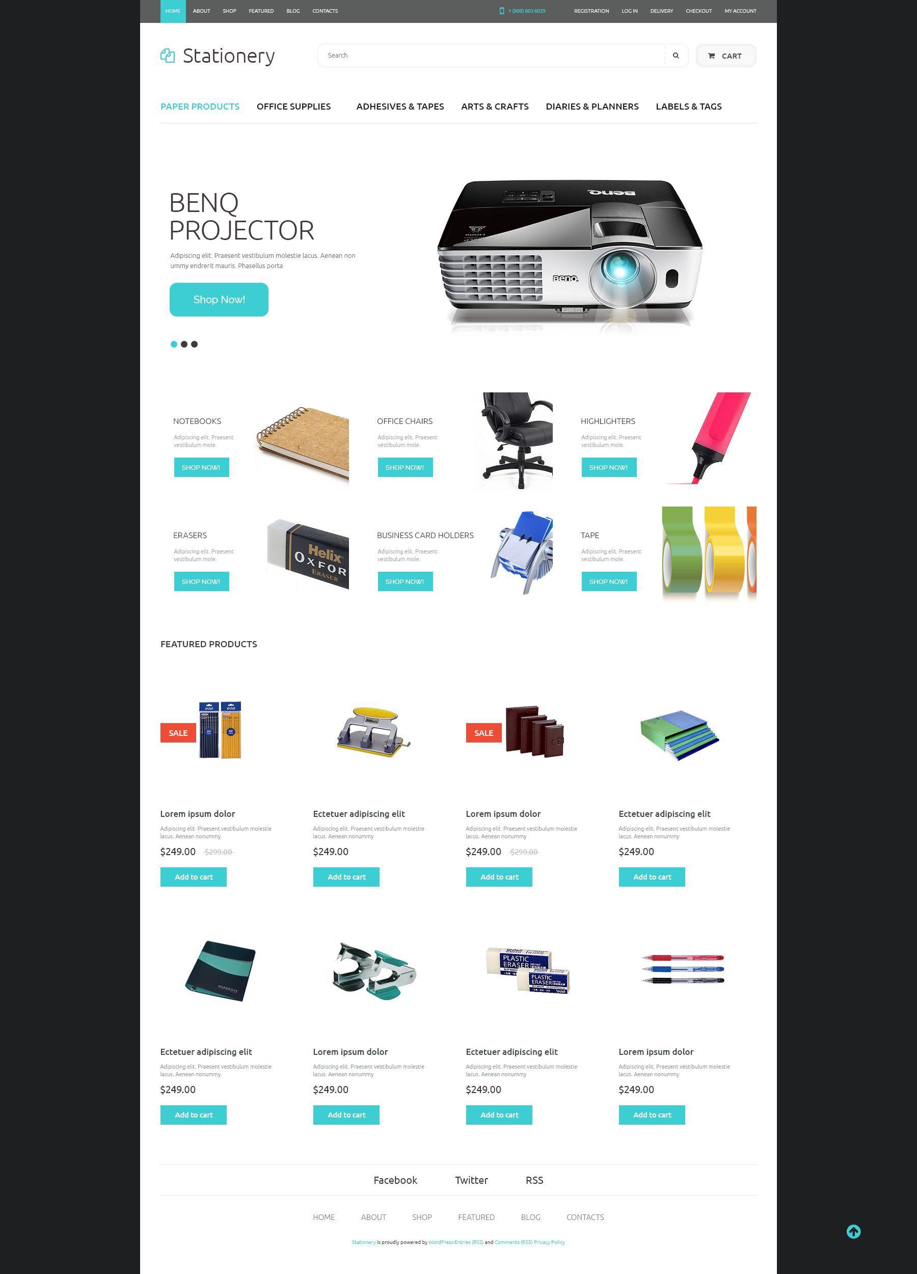 Office Supplies Theme Website template