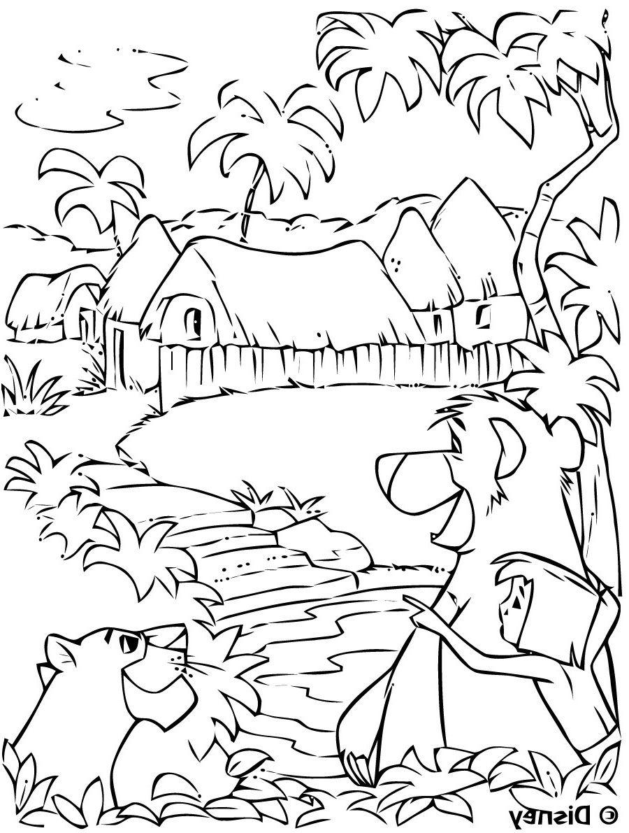 5 original Coloriage Jungle Gallery en 5  Coloriage jungle