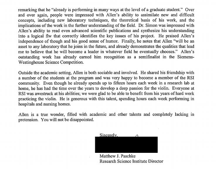 My Successful Harvard Application Common App