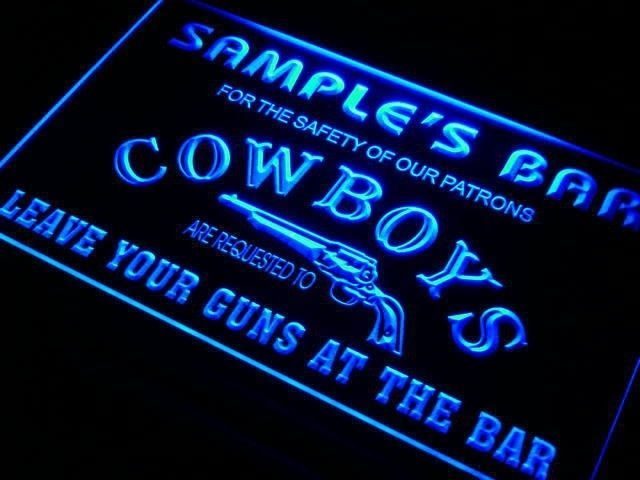 Personalized Neon Signs Custom Custom Man Cave Cowboys Lighted Sign Personalized Name Mens Gift Inspiration