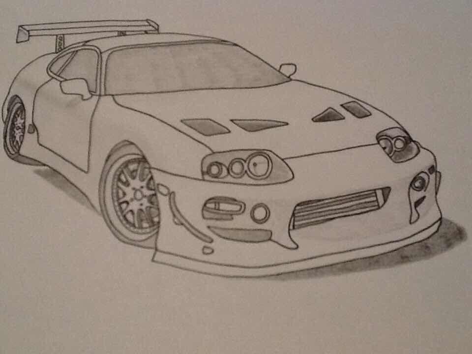 Toyota Supra MK4 - Cars | Drawings | Pinterest | Toyota supra mk4 ...