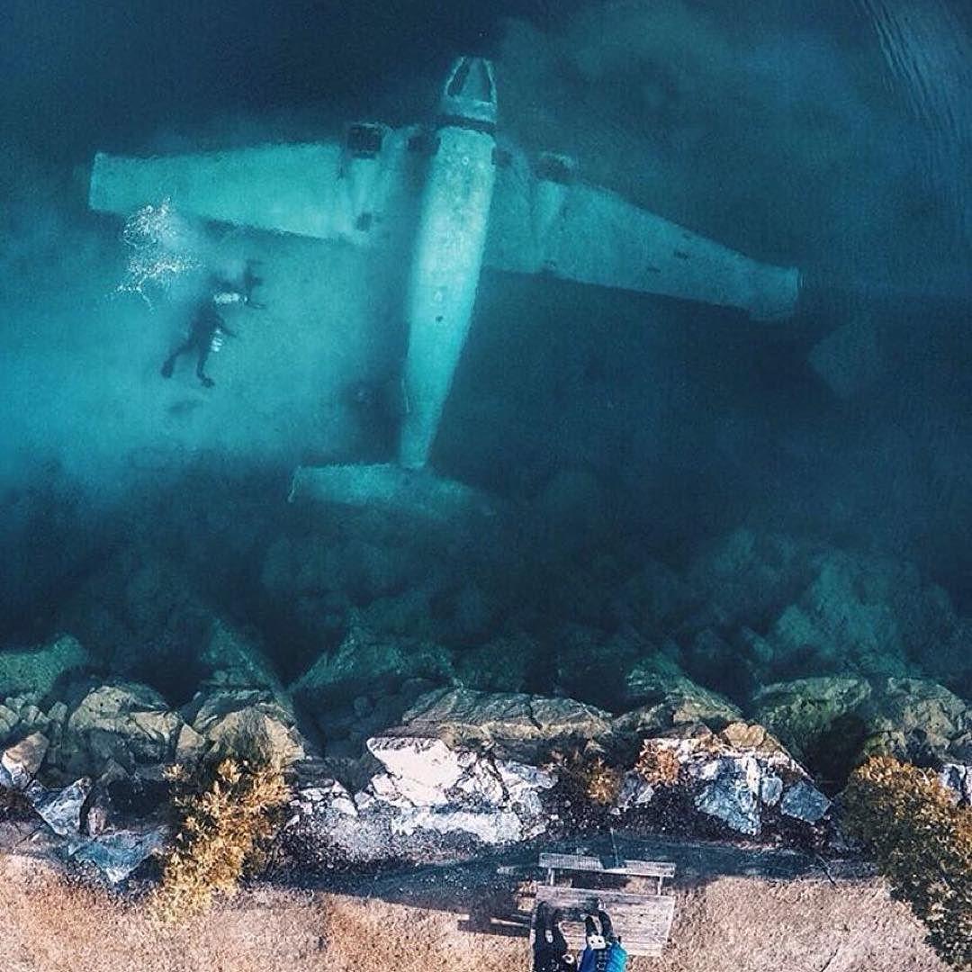 #Repost @earthfocus Sunken plane Ottawa Ontario. Photo by ...