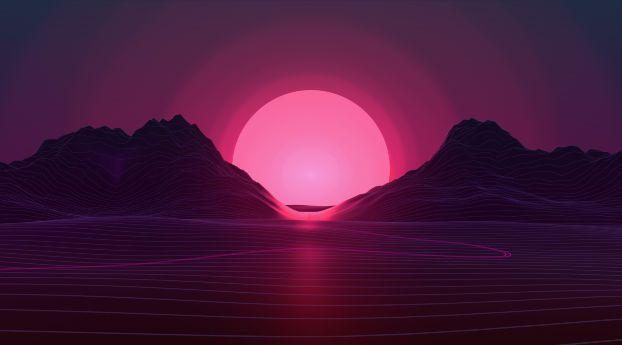 Neon Sunset Vaporwave wallpaper, Neon wallpaper, Sunset