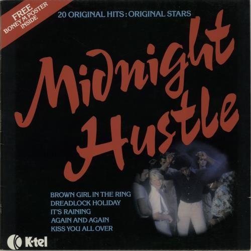 Various Pop Midnight Hustle Poster Uk Vinyl Lp Album Lp Record Posters Uk Boney M Vinyl Records
