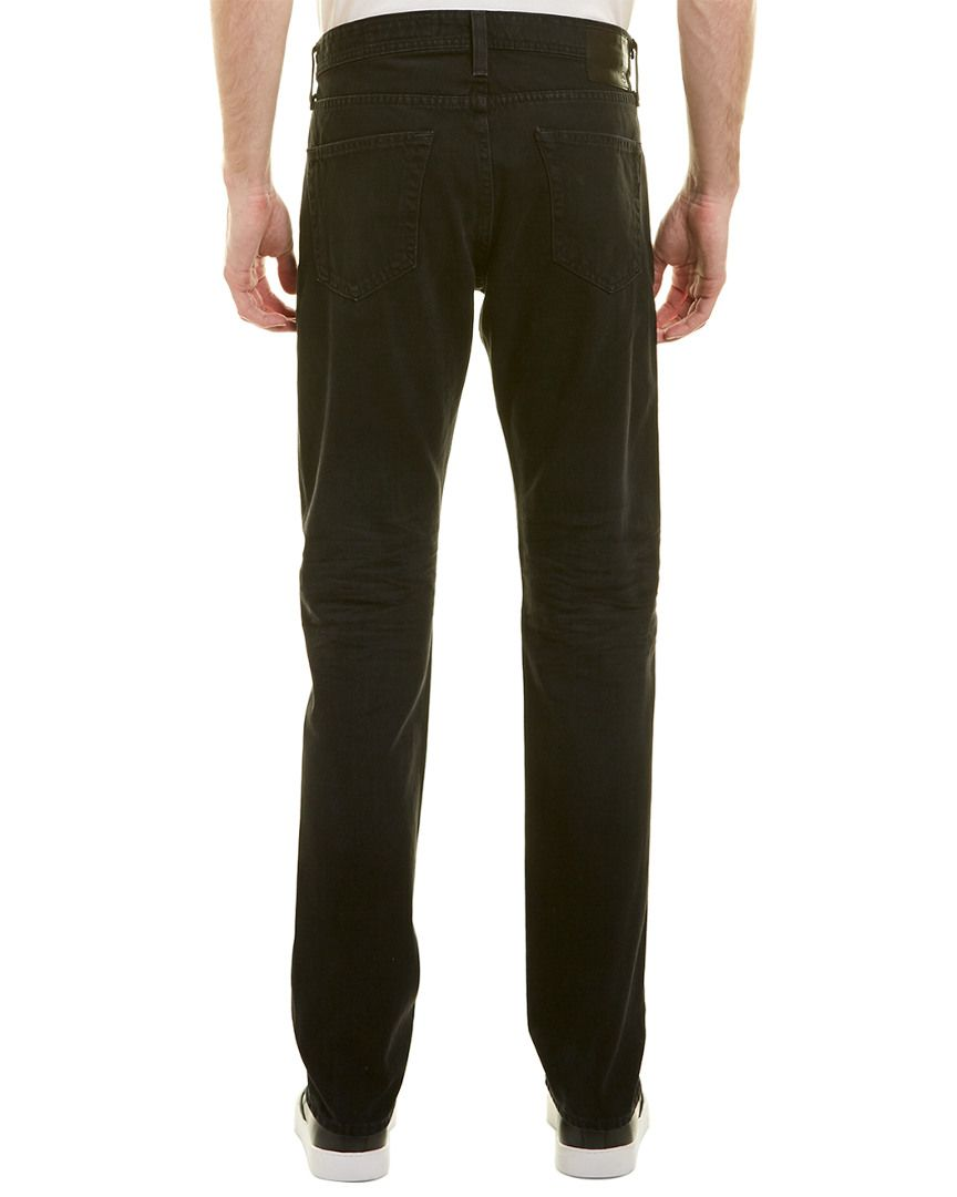 AG Adriano Goldschmied Mens Graduate Tailored Jeans in 2 Years Black Eagle