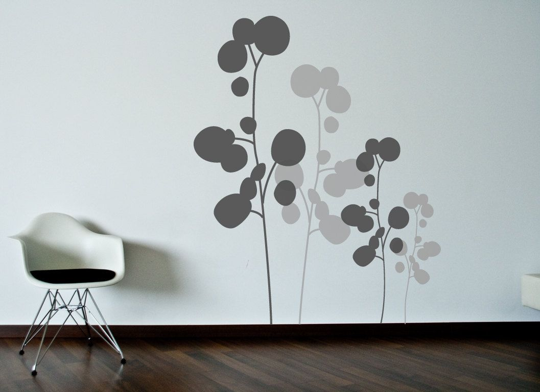 Modern Vinyl Wall Art Floral Plant Wall Decal Wall Sticker Ava 39s Room