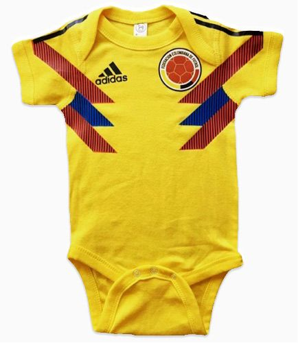 837cdb71f Colombia baby soccer jersey onesie - Get your baby ready for Copa America  Brazil 2019 and World Cup Soccer Qatar 2022 with this infant or toddler  Colombia ...
