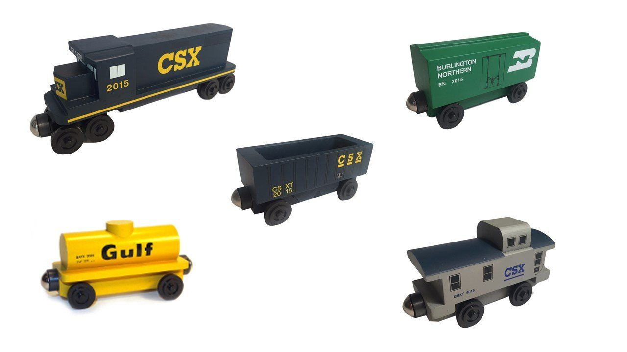 Csx Freight Set Products Wooden Toy Train Model Trains Wooden Toys