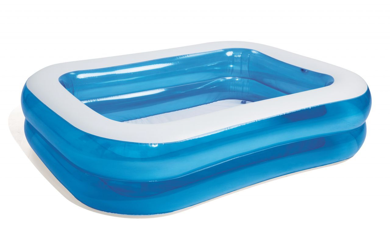 Family Pool Blue Rectangular 201 X 150 X 51 Cm Kicker Tisch Reparatur Holzschaukel