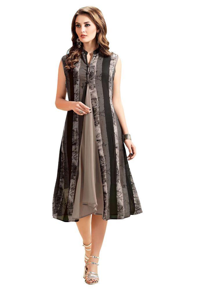 New Tops Design Stylish Tunic Kurta Kurti Women Ethnic Dress Indian ...
