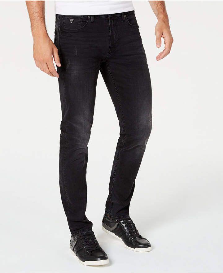 Guess mens slimfit black jeans reviews jeans men