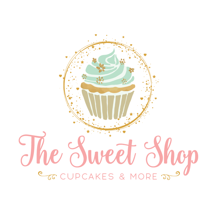 Golden Cupcake Premade Logo Design Customized With Your Business