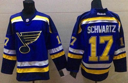"$34.88 at ""MaryJersey""(maryjerseyelway@gmail.com) Blues 17 Jaden Schwartz Light Blue Home Stitched NHL Jersey"