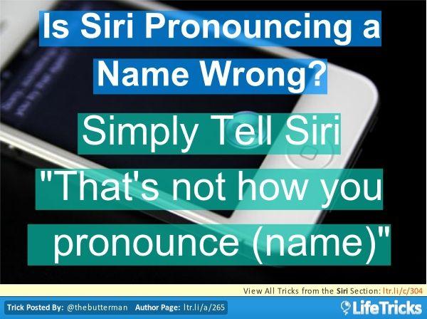 Siri - Teach Siri to Make the Proper Pronunciation  #Tricks  - www.justiphone.fr