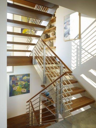 Light stair  EYRC Architects — Work — Zeidler Residence