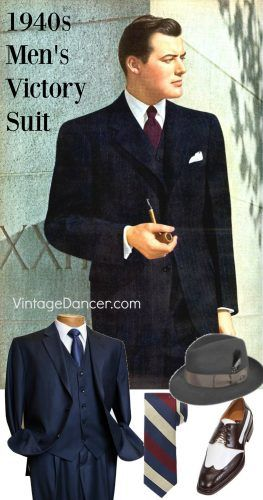 2e50b4dcd 1940s Men's Suit History and Styling Tips | 1940s Mens Fashion ...