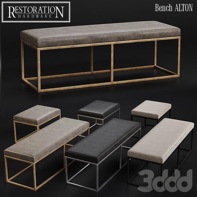 Leather Benches Modern Part - 46: RH Modern Alton Leather Bench