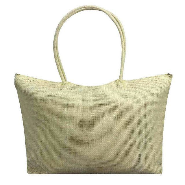 Jasmien Simple Candy Color Large Straw Beach Bags Women Casual Shoulder Bag Nov28