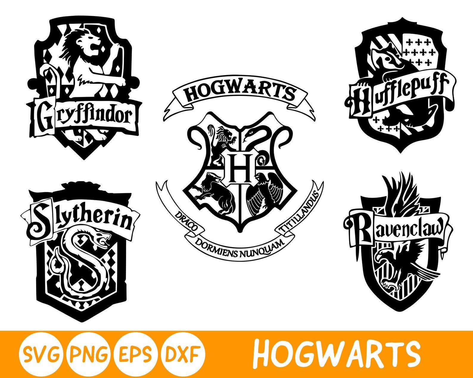 Ravenclaw Hufflepuff Slytherin Gryffindor Svg Harry Potter Etsy In 2021 Hogwarts Houses Crests Harry Potter Silhouette Hogwarts Crest