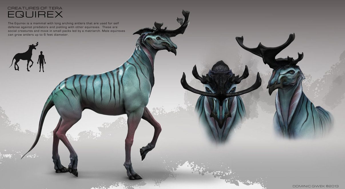 Equirex Profile By Dominicqwek On Deviantart Alien Creatures Mythical Creatures Fantasy Beasts