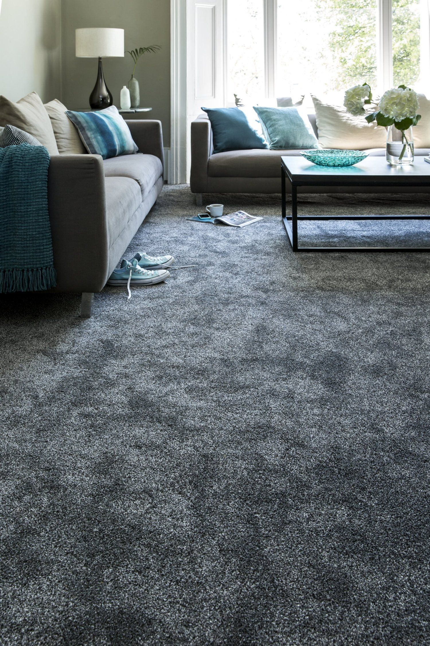 With A Strong Palette Of Contemporary Greys And Neutrals Soft Focus Heathers Offers A Ch Dark Grey Carpet Living Room Grey Carpet Living Room Dark Grey Carpet