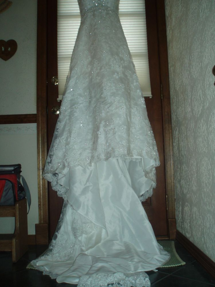 MORI LEE MADELINE GARDNER STYLE 2101 ELEGANT LACE Size 10 Wedding ...