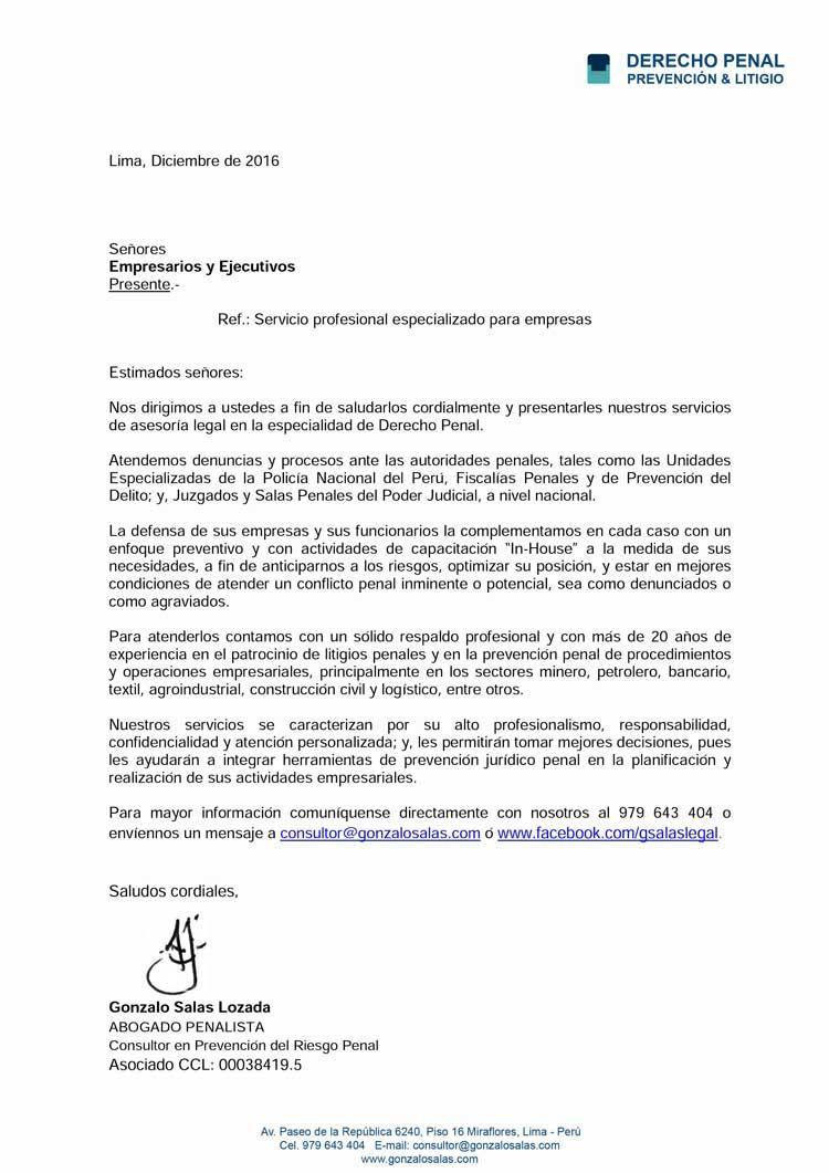 Carta Presentación para Empresarios y Ejecutivos.. | Digitación ...