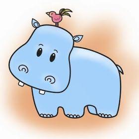 La Chachipedia Hipopótamos Para Colorear Hippo Luv Hipopótamo