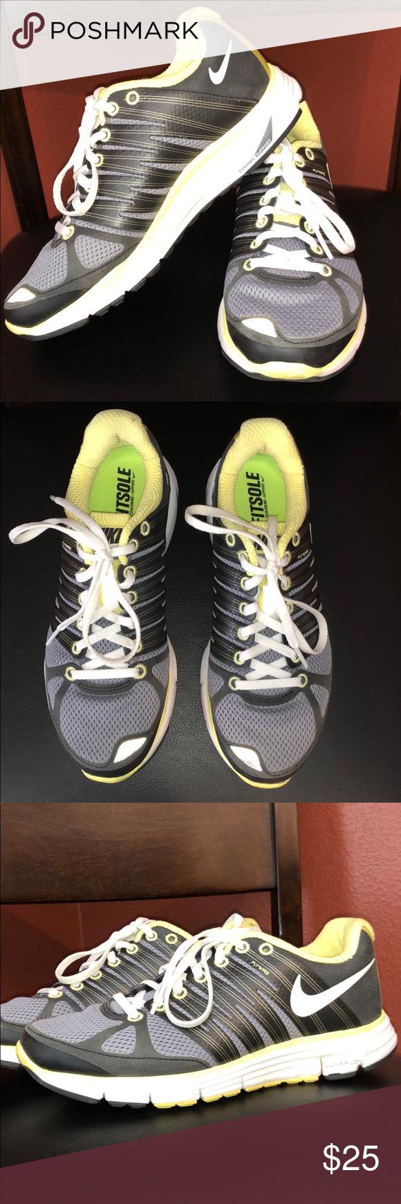 best website 6c938 f44be Spotted while shopping on Poshmark  Women s Nike Lunarlon Lunar Elite 2 -  Gray, Yellow!  poshmark  fashion  shopping  style  Nike  Shoes