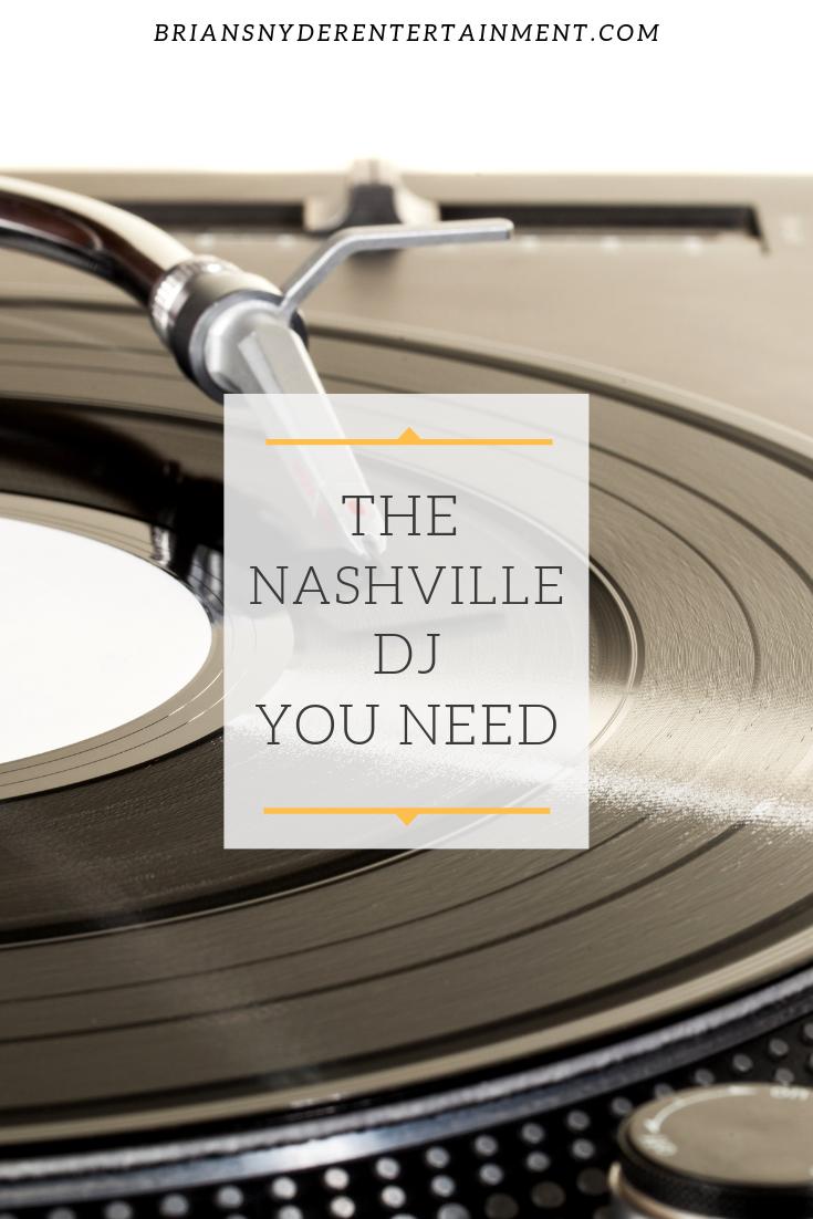 Best Nashville Wedding DJ. Fun Nashville Wedding music