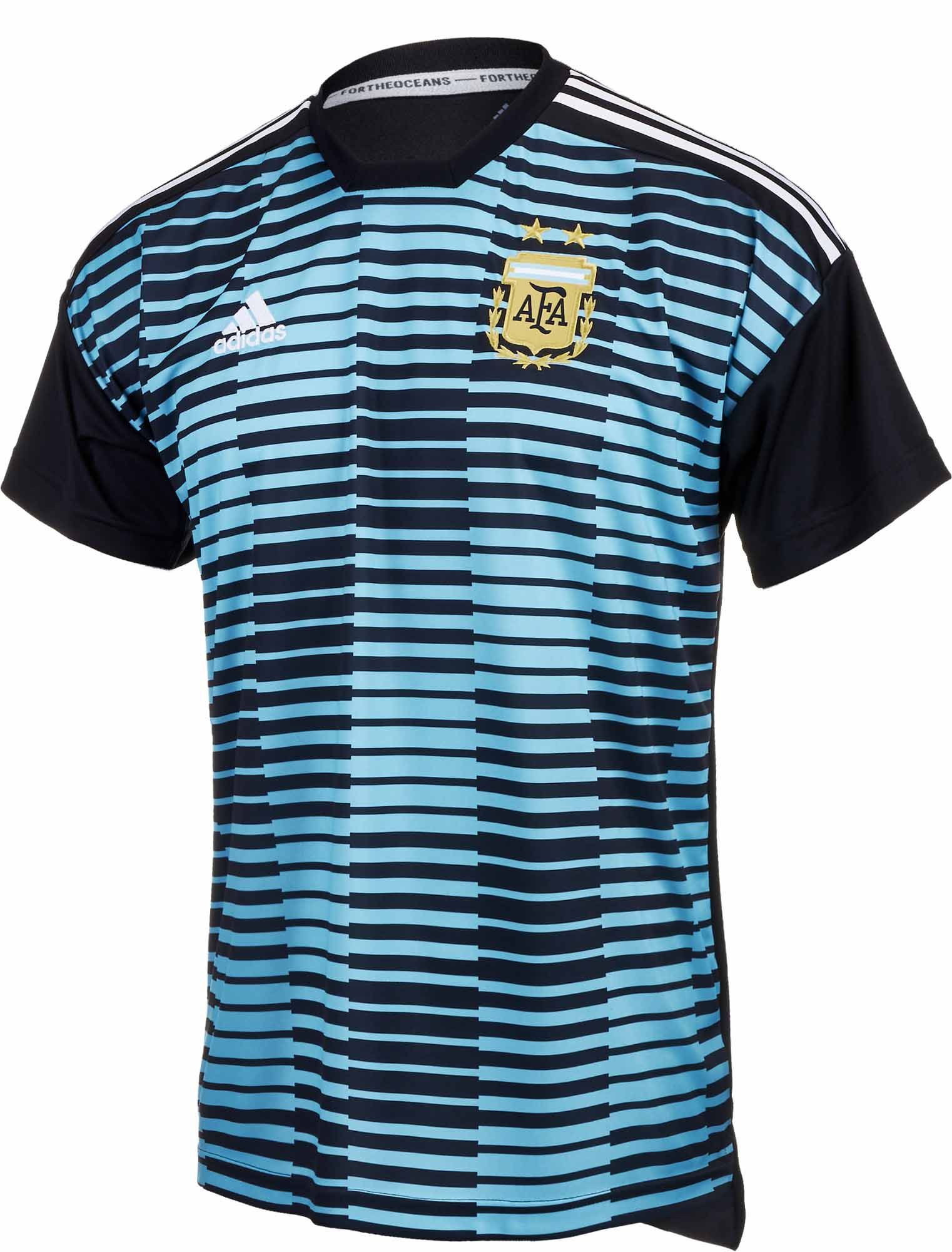 Kids adidas Argentina Prematch Jersey for 2018 19. Buy it from SoccerPro 9112f1e56ca