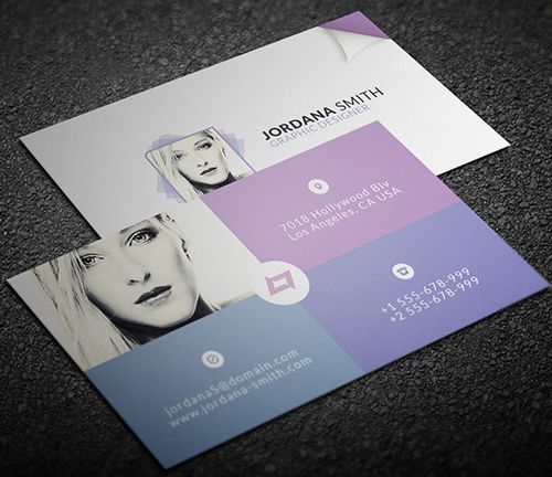 Personal Business Card Template #businesscards #businesscardtemplate ...