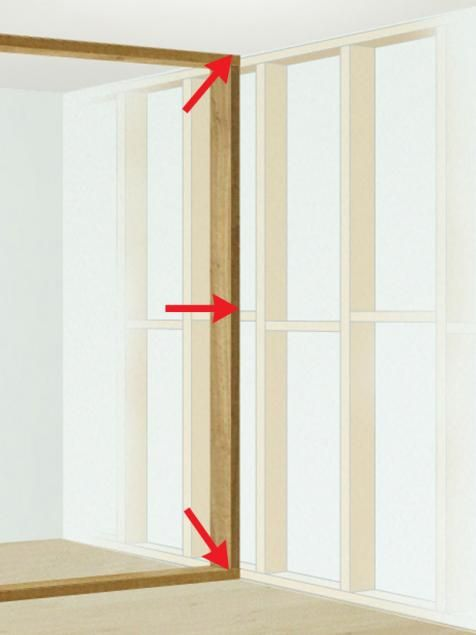 How To Frame A Wall And Door Build A Closet Stud Walls Interior Barn Doors