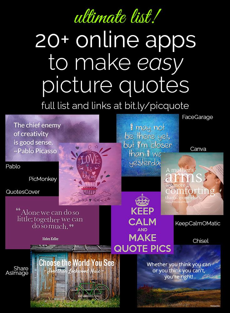 Best Quote Maker App Magnificent 48 EASY Ways To Make Picture Quotes Online Pinterest Business