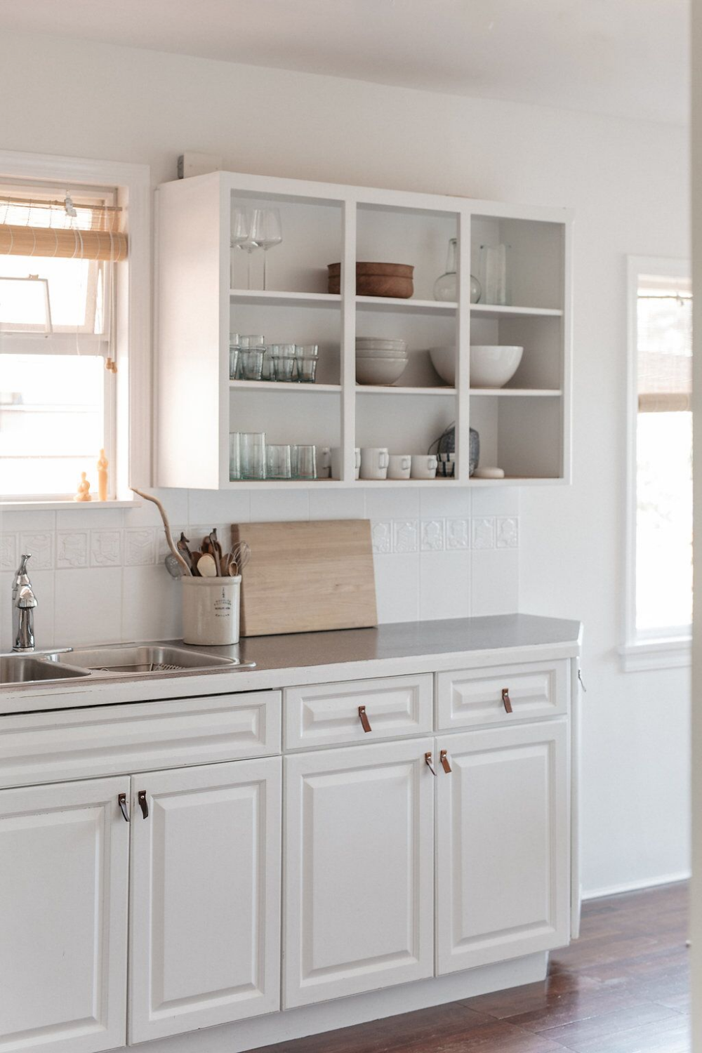 Pale And Interesting An Artful And Economical Renovation In Vancouver Bc Remodelista In 2020 Open Kitchen Cabinets Kitchen Cabinets Kitchen Renovation