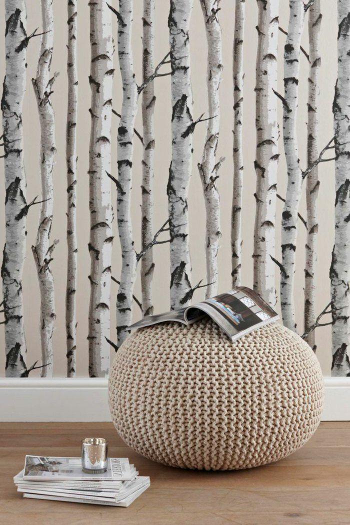 le papier peint design 50 belles ides archzinefr - Papier Peint Design Pour Salon