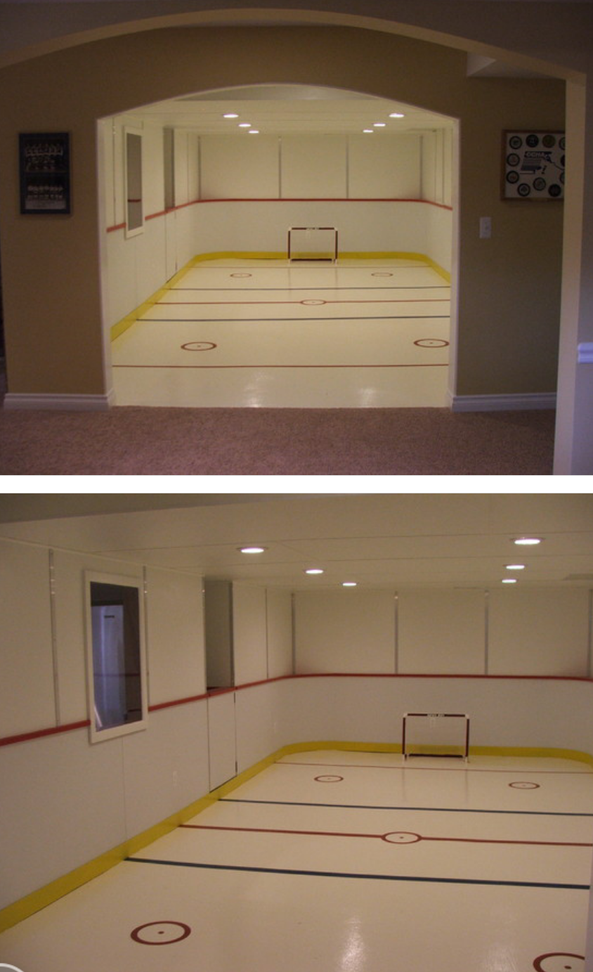 how to build a basement hockey rink
