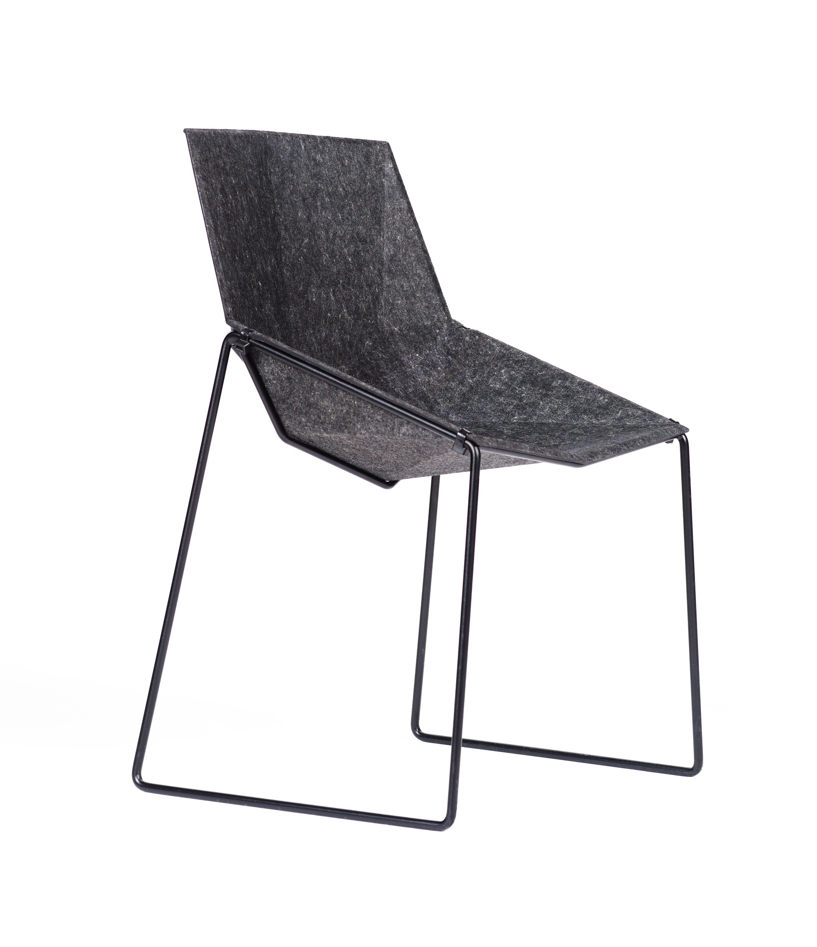Recycled felt chair NICO LESS by DONAR design Primož Jeza