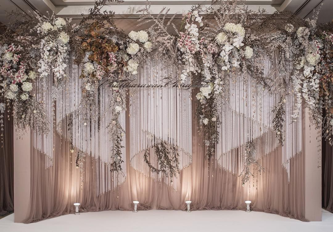 Wedding stage decoration without flowers Pin by Chaarvis on Back drop  Pinterest  Wedding Wedding
