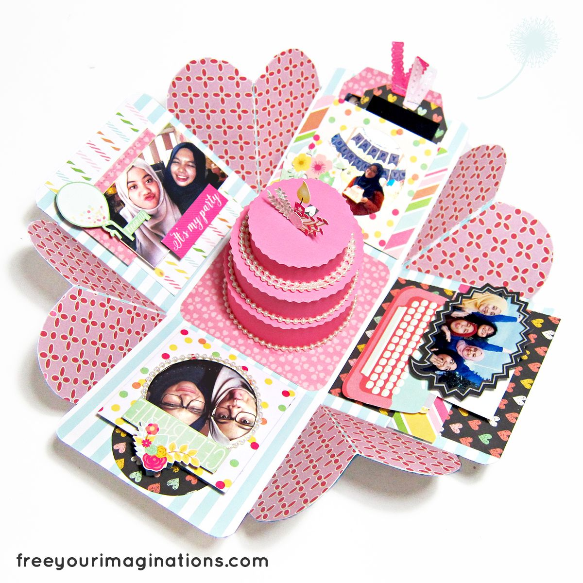 This Is The Inside View Of BIRTHDAY GIFT For Best-friend With Pink Lover Design Theme Featuring