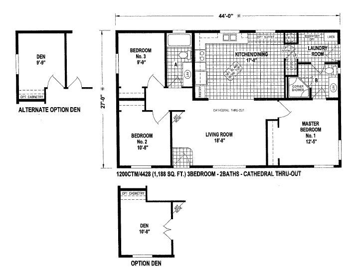 24 Ft Wide Houses Floor Plans For Double Wide Manufactured Homes Floor Plans Double Wide Manufactured Homes House Floor Plans