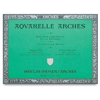 Arches 140lb Watercolor Paper Block Cold Press 20 Sheets More
