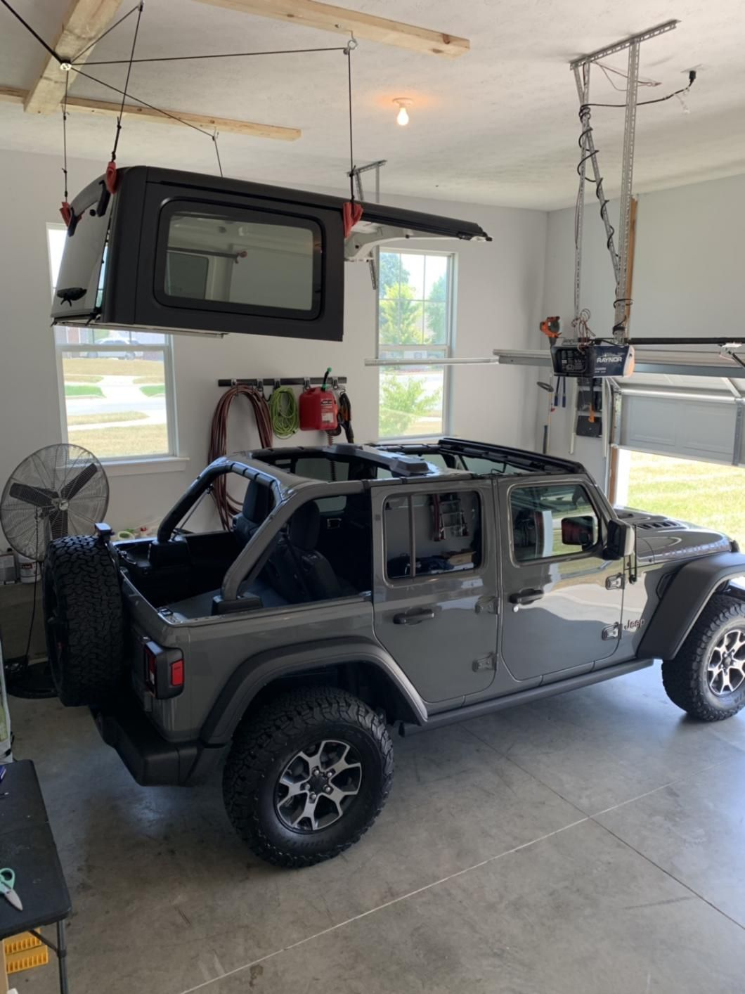 Harken Jeep Wrangler Hoister Garage Storage 4 Point Lift System 7803 Jeep In 2020 Custom Jeep Wrangler Dream Cars Jeep Jeep Wrangler Tops