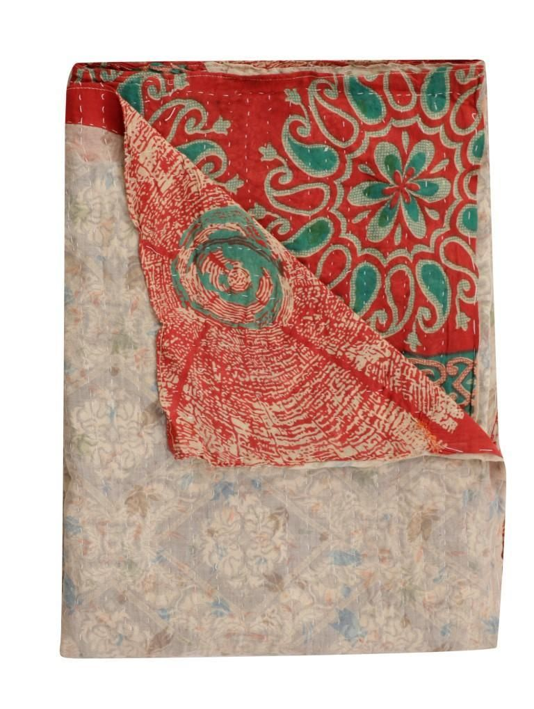 Organic Kantha Throw Indian Fair Trade Vintage Kantha Quilt Bedspread Vintage Kantha Quilts Bedspreads Vintage Kantha Quilts Vintage Kantha