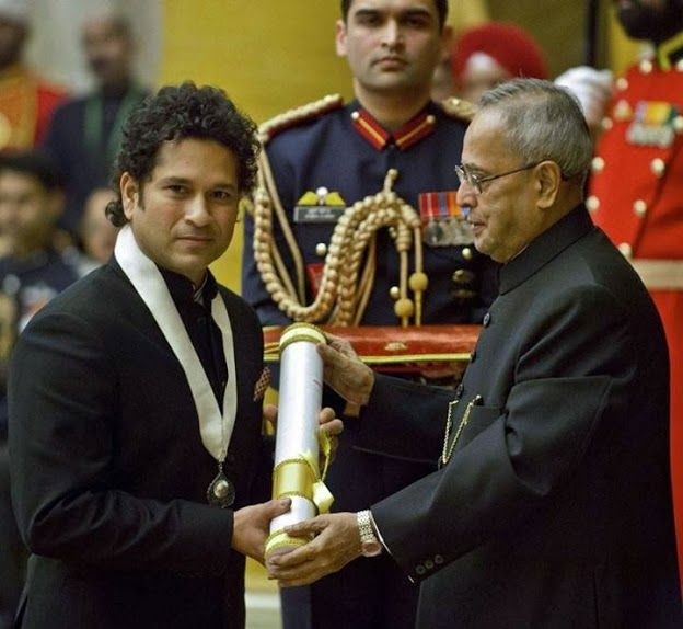 National honours for Sachin Tendulkar:   1994: Arjuna Award, in recognition of his outstanding achievement in sports.