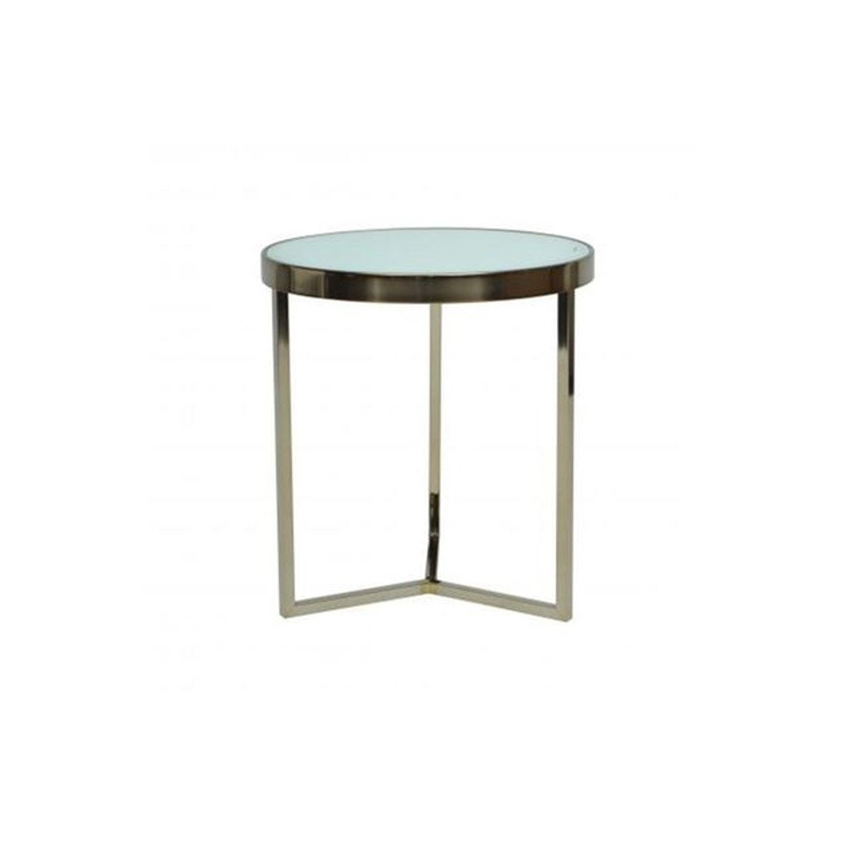 Table D Appoint Design Blanc Et Dore Benja Taille Taille