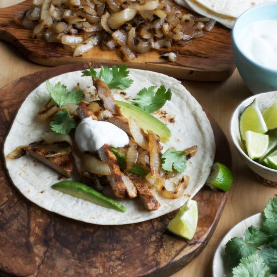 Grilling pork quickly not only keeps it moist, but adds a charred, smoky flavor that is lovely in these tacos. Remember to grill the cutlets only unti...