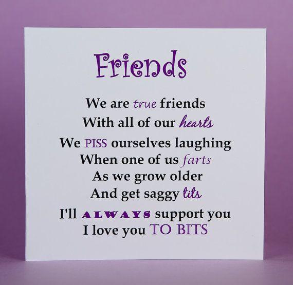 Friend Card, Best Friend Birthday Card, True Friends
