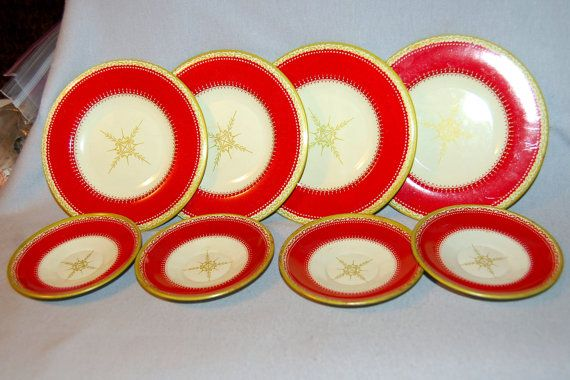 Vintage / Tin Litho / 8 Plates / Childrens / by AmericanHomestead, $9.50